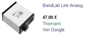 bandlab-link-analog Strassenpreis